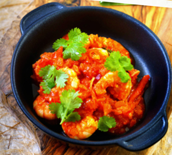 King Prawn Rougaille, from Shelina Permalloo