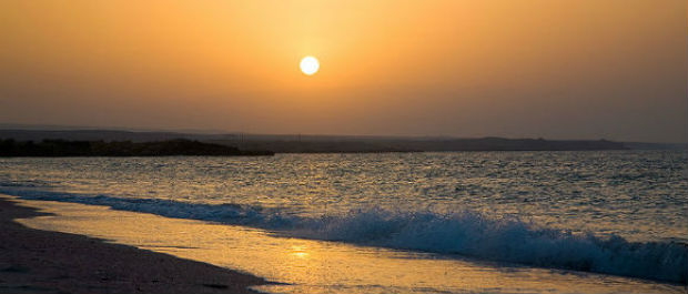 Sunset in Ras al Hadd, Oman