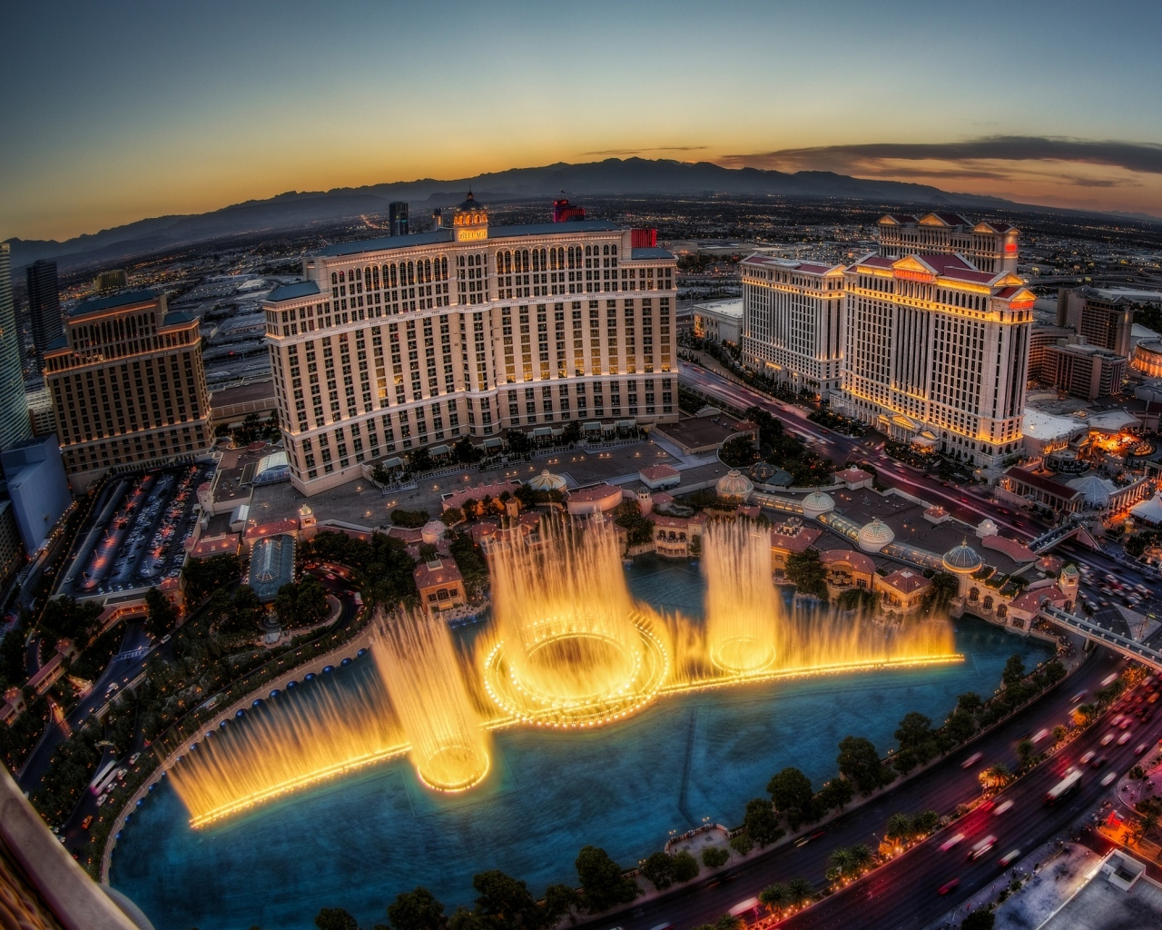 Bellagio from Ocean's 11 is one of the most glamorous movie hotels for good reason.